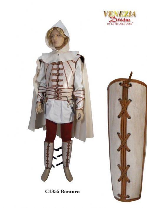Mens Costume Bonturo Medieval Assin/Adventuer 1500 Historic ancient Middle Ages